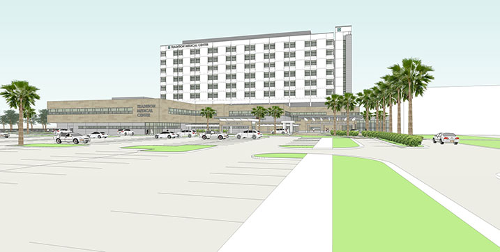 This is an artist's rendering of the expansion of Tradition Medical Center, which will be completed in 2018.