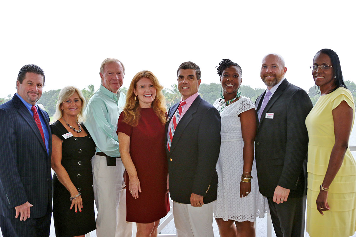 The board of directors of the Health Start Coalition are, from left: Adam Chrzan, Brenda Lloyd, Robert Savage, Kathie Cain, Glenn Tremml, Cheryl Martinez, Sean Seevers and Patricia Pitts. Missing from the photo is Kim McCorrison.