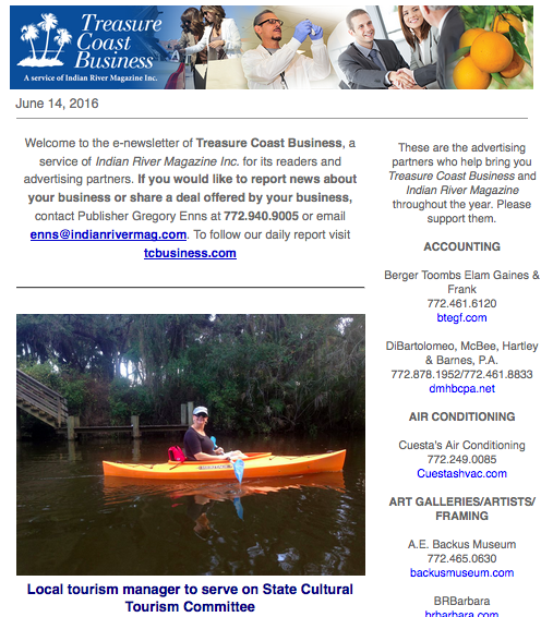 treasure coast business newsletters