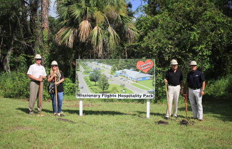 Missionary Flights International gathers to celebrate the construction of Hospitality Park