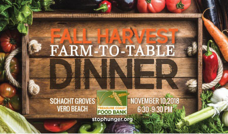 Treasure Coast Food Bank hosts farm-to-table Fall Harvest Dinner