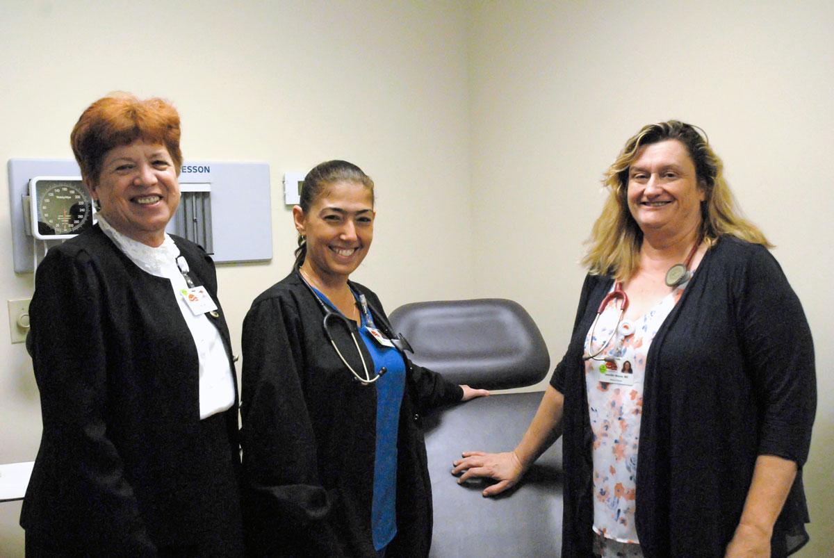 Vicki Soule, CEO of TCCH, Yanet Quevedo and Dr. Jennifer Moore