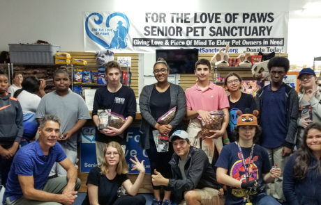 "Youth Guidance Pathfinders Excel Club assists ""For the Love of Paws"""