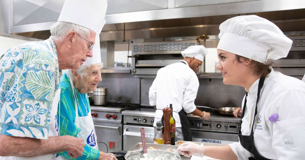 """Fielden Lifelong Learning members participate in """"An Afternoon Exploring Italian Cuisine with the Culinary Institute at IRSC"""