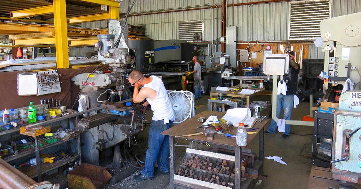 Phoenix Metal Products machine operators department