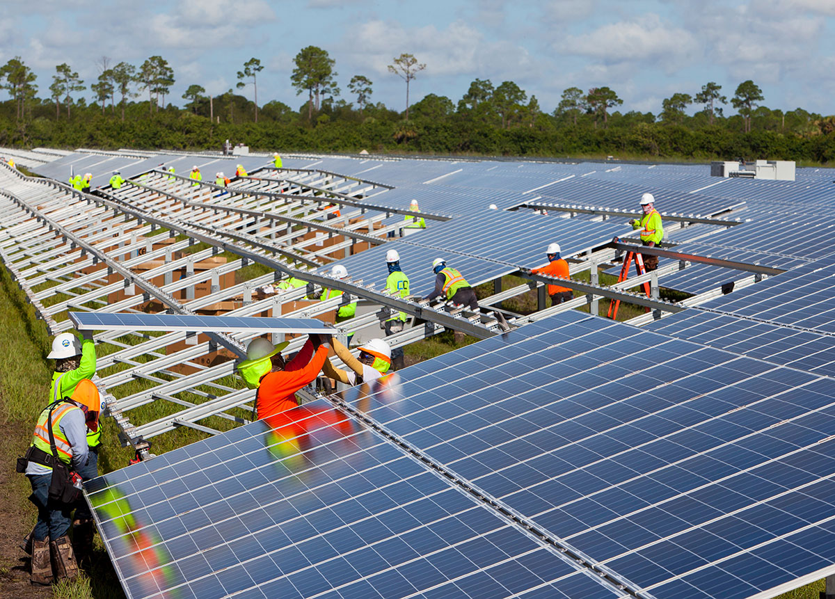 workers were trained in solar panel installation