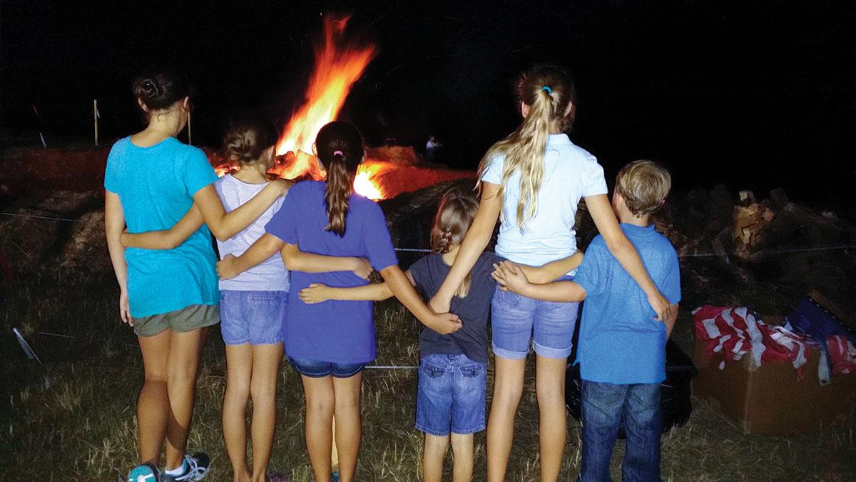 bonfire at McCarty Ranch preserve