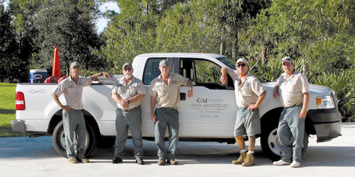 A Carter Associates survey crew