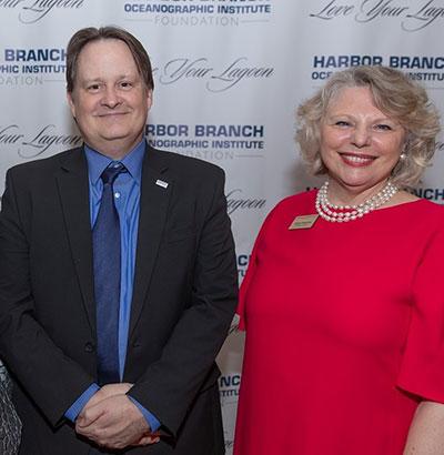 HBOI Executive Director Dr. Jim Sullivan and HBOIF President & CEO Katha Kissman.