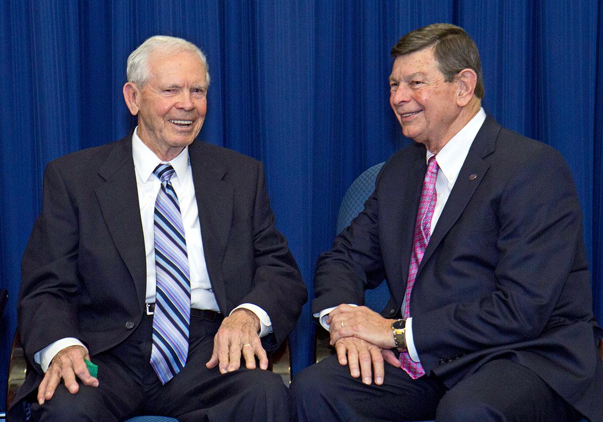 Roy Lambert and IRSC President Dr. Ed Massey