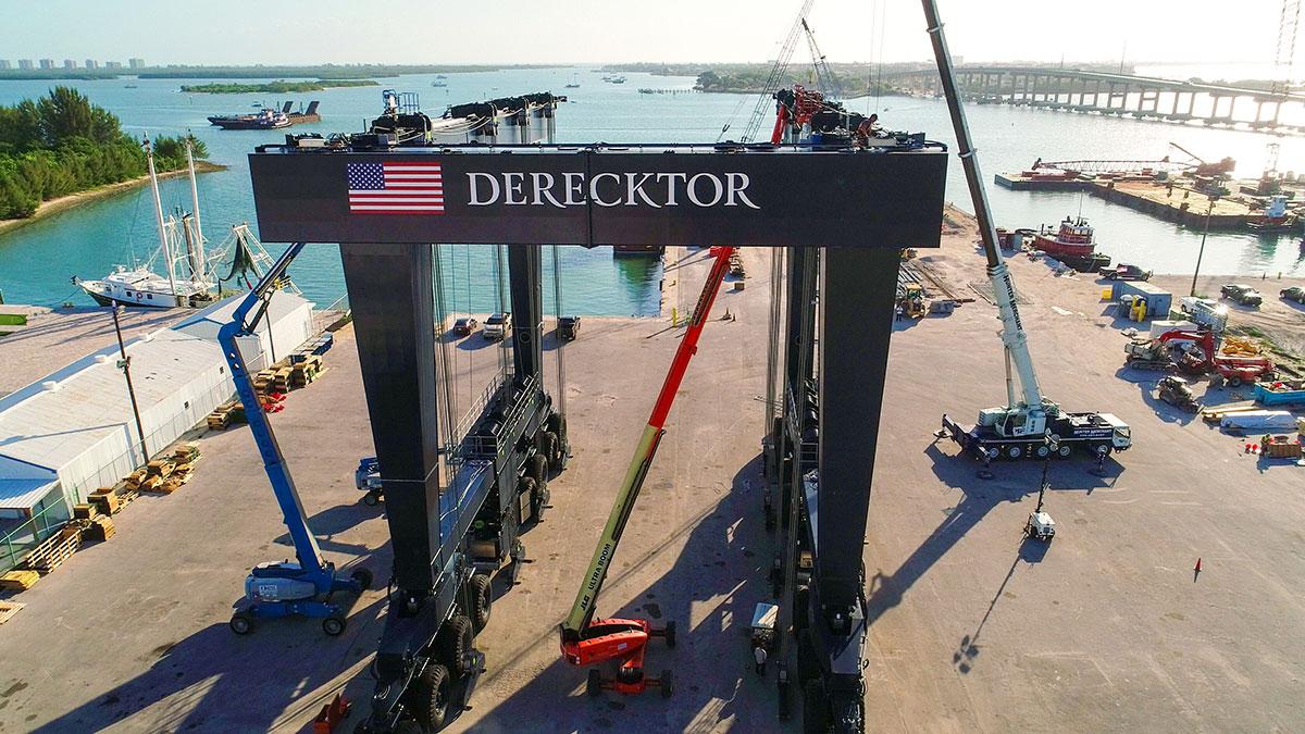 The world's largest mobile boat hoist