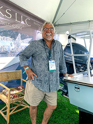 Mark Castlow, who founded Dragonfly Boatworks